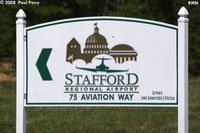 Stafford Regional Airport (RMN) - The road sign, and a good thing too; its a little off the beaten path - by Paul Perry