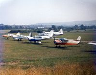 Isle of Wight/Sandown Airport -  A scene when the parking was on the north side of the aerodrome 1978 - by GeoffW