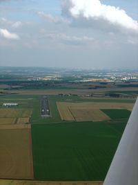 Pontoise Cormeilles-en-Vexin Airport - Downwind for Rwy 23 at Pontoise crossing centerline 12-30. - by Erdinç Toklu