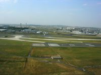 Paris Charles de Gaulle Airport (Roissy Airport), Paris France (LFPG) - Landing on 08R. See the central and north towers. - by Erdinç Toklu