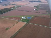 Huffman Farm Airport (4OH8) - Looking SW from 2500' - by Bob Simmermon