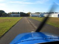 Lowell City Airport (24C) - Looking south on the taxiway. - by Bob Simmermon
