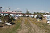 Edmonton/Villeneuve Airport (Villeneuve Airport) - Scrap yard at Edmonton Villeneuve  - by Andy Graf-VAP