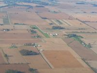 Hollister Field Airport (2B6) - Looking west from 3500' - by Bob Simmermon
