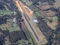New Tazewell Municipal Airport (3A2) - Looking west from 5500' - by Bob Simmermon