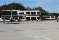 Gatlinburg-pigeon Forge Airport (GKT) - Nice new FBO facility and ramp on the far west end of the field. - by Bob Simmermon