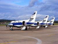 RAF Shawbury Airport, Shawbury, England United Kingdom (EGOS) - SA Jetstream T2, Royal Navy, 750 NAS, XX478, XX488, XX484 and ZA111 - by Chris Hall