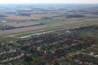 Van Wert County Airport (VNW) - In the pattern Looking SW - by Bob Simmermon