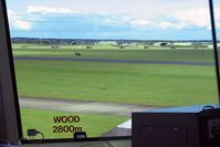 RAF Leeming Airport, Leeming Bar, England United Kingdom (EGXE) - The view across the airfield to the NE from RAF Leeming's control tower. - by Malcolm Clarke