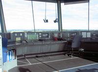 RAF Leeming Airport, Leeming Bar, England United Kingdom (EGXE) - Inside the control tower at RAF Leeming. - by Malcolm Clarke
