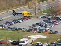 Medical Center Heliport (96IN) - Looking east as N381PH arrives. - by Bob Simmermon