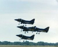 Denton Municipal Airport (DTO) - Blue Angels at the Denton Airshow 1985 - by Zane Adams