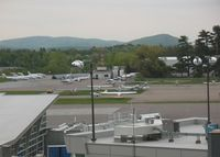 Burlington International Airport (BTV) - GA ramp from the observation tower - by Timothy Aanerud