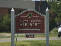 Hanover County Municipal Airport (OFP) - Entrance Sign for Hanover - by Paul Perry