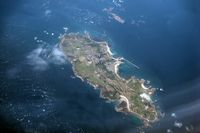 Alderney Airport - Alderney, Channel Islands with the airport seen at the northern end of the island. Taken during a flight from Jersey to Newcastle in 2009. - by Malcolm Clarke