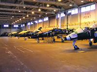 RAF Shawbury Airport, Shawbury, England United Kingdom (EGOS) - BAe Hawk T1's in storage at RAF Shawbury - by Chris Hall