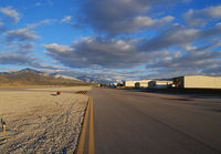 Redlands Municipal Airport (REI) - Midfield looking East in the late afternoon - by Marty Kusch
