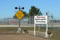 Lone Star Executive Airport (CXO) - Army helicopter crossing point at the Lone Star Executive Airport - Conroe, Texas - by Zane Adams