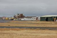 Swansea Airport, Swansea, Wales United Kingdom (EGFH) - View of airport buildings and Bellman hangar (Hangar 2).  - by Roger Winser