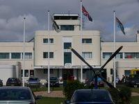 Shoreham Airport, Shoreham United Kingdom (EGKA) - Shoreham Brighting Terminal buuilding - by Alex Smit