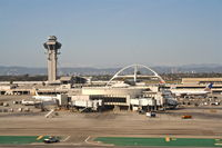 Los Angeles International Airport (LAX) - A view of Terminal 6 while departing on 25R KLAX. - by Mark Kalfas