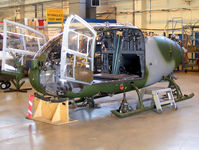 AAC Middle Wallop Airfield Airport, Andover, England United Kingdom (EGVP) - Westland Gazelle AH.1 undergoing maintenance with the Gazelle Depth Support Hub - by Chris Hall