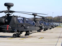AAC Middle Wallop Airfield Airport, Andover, England United Kingdom (EGVP) - Army Air Corps 673 Sqn Westland Apache AH1's - by Chris Hall