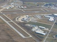 Toledo  Executive Airport (TDZ) - Old terminal in the foreground with newer facilities beyond. - by Bob Simmermon