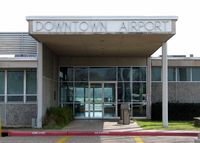 Shreveport Downtown Airport (DTN) - Front entrance to the terminal at Shreveport's Downtown Airport. - by paulp