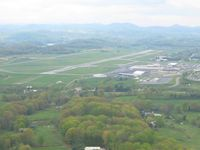 Tri-cities Regional Tn/va Airport (TRI) - Approaching from the NE for 23. - by Bob Simmermon