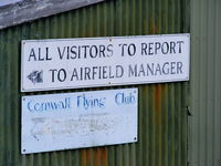 Bodmin Airfield - Cornwall Flying Club based at Bodmin Airfield - by Chris Hall