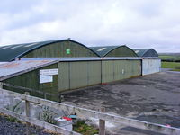 Bodmin Airfield - Hangars at Bodmin Airfield - by Chris Hall