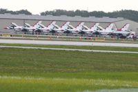 Lakeland Linder Regional Airport (LAL) - Air Force Thunderbirds preparing for demonstration during Sun N Fun 2010. - by Bob Simmermon
