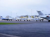 Bristol International Airport - GA Apron at Bristol Airport - by Chris Hall