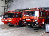 RNAS Culdrose Airport, Helston, England United Kingdom (EGDR) - fire trucks at RNAS Culdrose - by Chris Hall