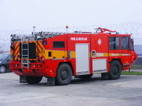 RNAS Culdrose Airport, Helston, England United Kingdom (EGDR) - fire truck at RNAS Culdrose - by Chris Hall