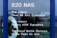 RNAS Culdrose Airport, Helston, England United Kingdom (EGDR) - at the entrance to the 820 NAS hangar - by Chris Hall