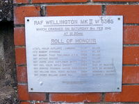 Nottingham Airport - Memorial plaque at Tollerton - by Chris Hall