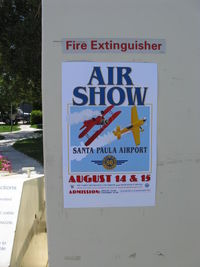 Santa Paula Airport (SZP) - August 2010 is the 80th Anniversary of the Airport. Air Show 14-15 August. See our website: www.santapaulaairport.com   Limited transient parking. - by Doug Robertson