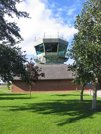 RAF Leeming - The ATC control tower at RAF Leeming, North Yorkshire, September 2004. - by Malcolm Clarke
