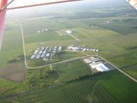 Hartford Municipal Airport (HXF) - Aerial view of the field - by Pam Folbrecht