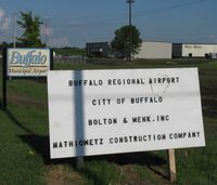 Buffalo Municipal Airport (CFE) - The signs for Buffalo Municipal Airport. - by Kreg Anderson
