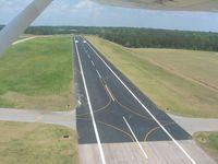 Lagrange-callaway Airport (LGC) - Departing RWY 31, crossing RWY 3, looking NE. - by Bob Simmermon