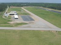 Lagrange-callaway Airport (LGC) - Departing RWY 31, looking NE at facilities on the north end of the field. - by Bob Simmermon