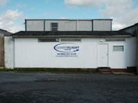 Swansea Airport, Swansea, Wales United Kingdom (EGFH) - Flight office of Gower Flight Centre based at Swansea Airport. - by Roger Winser