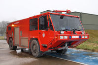 RAF Leeming - Fire tender at RAF Leeming, North Yorkshire, January 2009. - by Malcolm Clarke
