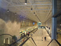 Québec/Jean Lesage International Airport (Jean Lesage International Airport), Quebec City, Quebec Canada (CYQB) - Registering desks inside new terminal that opened in 2008. - by olinadeau
