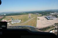 Flugplatz Freiburg Airfield - short final, taken from Cessna 150, D-ECIY - by J. Thoma