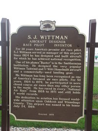 Wittman Regional Airport (OSH) - Historical marker at KOSH explaining for whom the field is named after - by steveowen