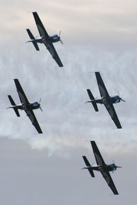 Sywell Aerodrome Airport, Northampton, England United Kingdom (EGBK) - The Blades displaying at the Sywell Airshow - by Chris Hall